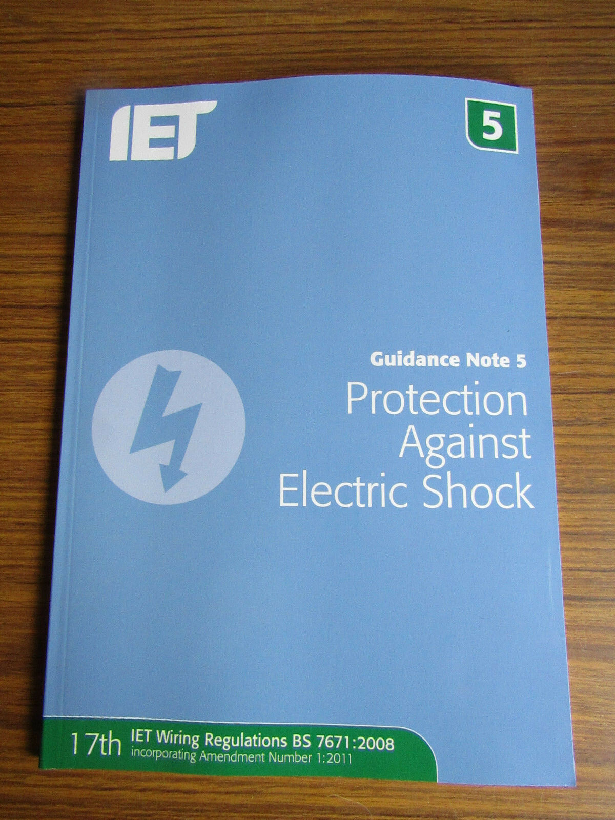 Guidance Note 5 Protection Against Electric Shock By Institution Of Iet Wiring Regs Books Stock Photo