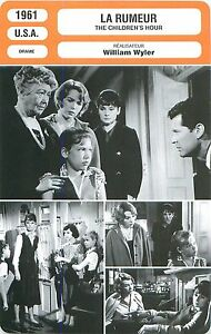 FICHE-CINEMA-FILM-USA-LA-RUMEUR-THE-CHILDREN-039-S-HOUR-Realisateur-William-Wyler