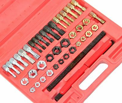 42pc UNF UNC Metric Rethreader Bolt Kit Thread File Repair Tap Tool Restorer Kit