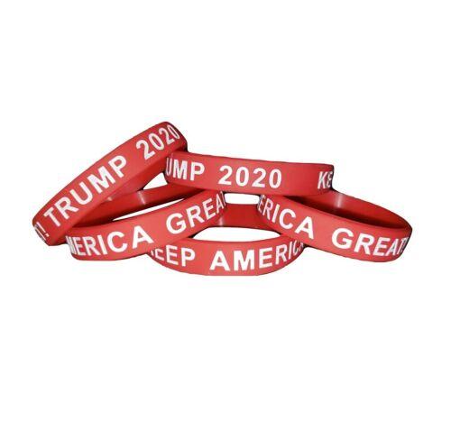 Keep America Great Trump 2020 MAGA Silicone Wrist Band Bracelet Wristband
