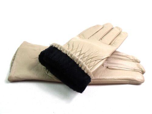Damen Premium Hochwertig Echt Super Weich Leder Handschuhe Vollständig Gefüttert