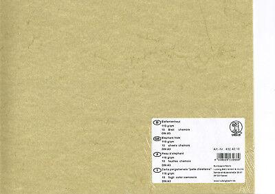 5 Blatt Urkundenpapier 190gr-m² Elefantenhaut chamois Antik DIN A3 29,7x42 cm