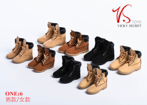 VSTOYS 1//6 Female Soldier Figure Hiking Boots 18XG023 Leather Ligh Shoes OB Toys