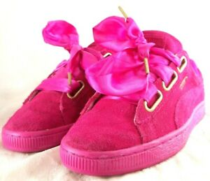 Details about Puma rosa Suede Heart Satin Wn 401