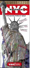 Folded & Laminated Map of NYC Manhattan, New York, by VanDam Maps (Street Smart)