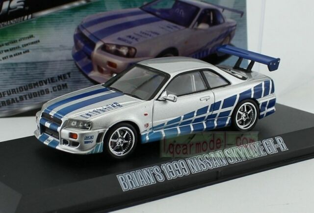 GREENLIGHT 86229 1:43 1989 NISSAN SKYLINE GT-R R32 FAST AND FURIOUS FAST 7