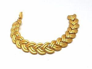 Golden-Braided-Design-Vintage-Bracelet