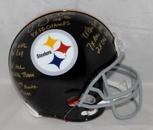 379495a9ee2 Jack Lambert Signed F S Steelers 63-76 TB ProLine Helmet W  STATS ...