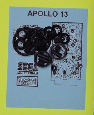 1995 Sega Apollo 13 pinball rubber ring kit