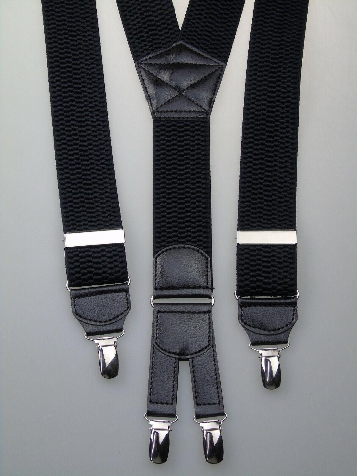 extra starke Y-Hosenträger 40 mm breit versch. Farben wählen 4 starke Clips