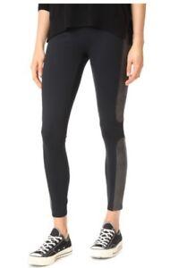 1dec150a278979 NEW SPANX WOMEN'S PANEL FAUX LEATHER BLACK PONTE LEGGING PANTS S M L ...