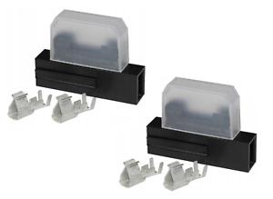 2x Standard Blade Inline Fuse Holder DC 12V standard fuse