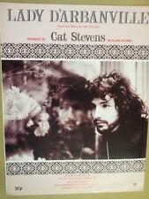 song sheet LADY D' ARBANVILLE Cat Stevens 1970