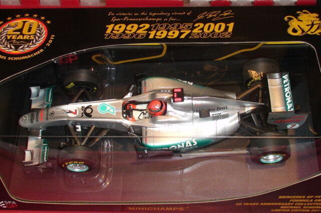 1:18 Minichamps Michael Schumacher MERCEDES GP02 Spa Promo Voiture ltd to 2011 pcs