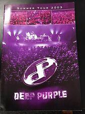DEEP PURPLE 2003 SUMMER TOUR PROGRAMME NEW MINT