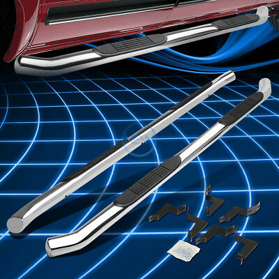 """Chrome Stainless 3/"""" Side Step Nerf Bar For 2007-2016 Toyota Tundra Double Cab"""