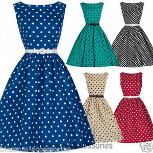 RKB5 Lindy Bop Audrey Polka Dots 50s Rockabilly Vintage Pin Up Swing ... 6310502984