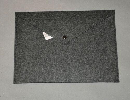 Dokumententasche A4 Dokumentenmappe Aktentasche Tasche Hülle Filz Grau Anthrazit