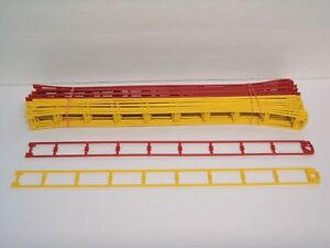 """Micro Knex Track Green 16/"""" Straight Roller Coaster Parts 15 Piece Lot"""