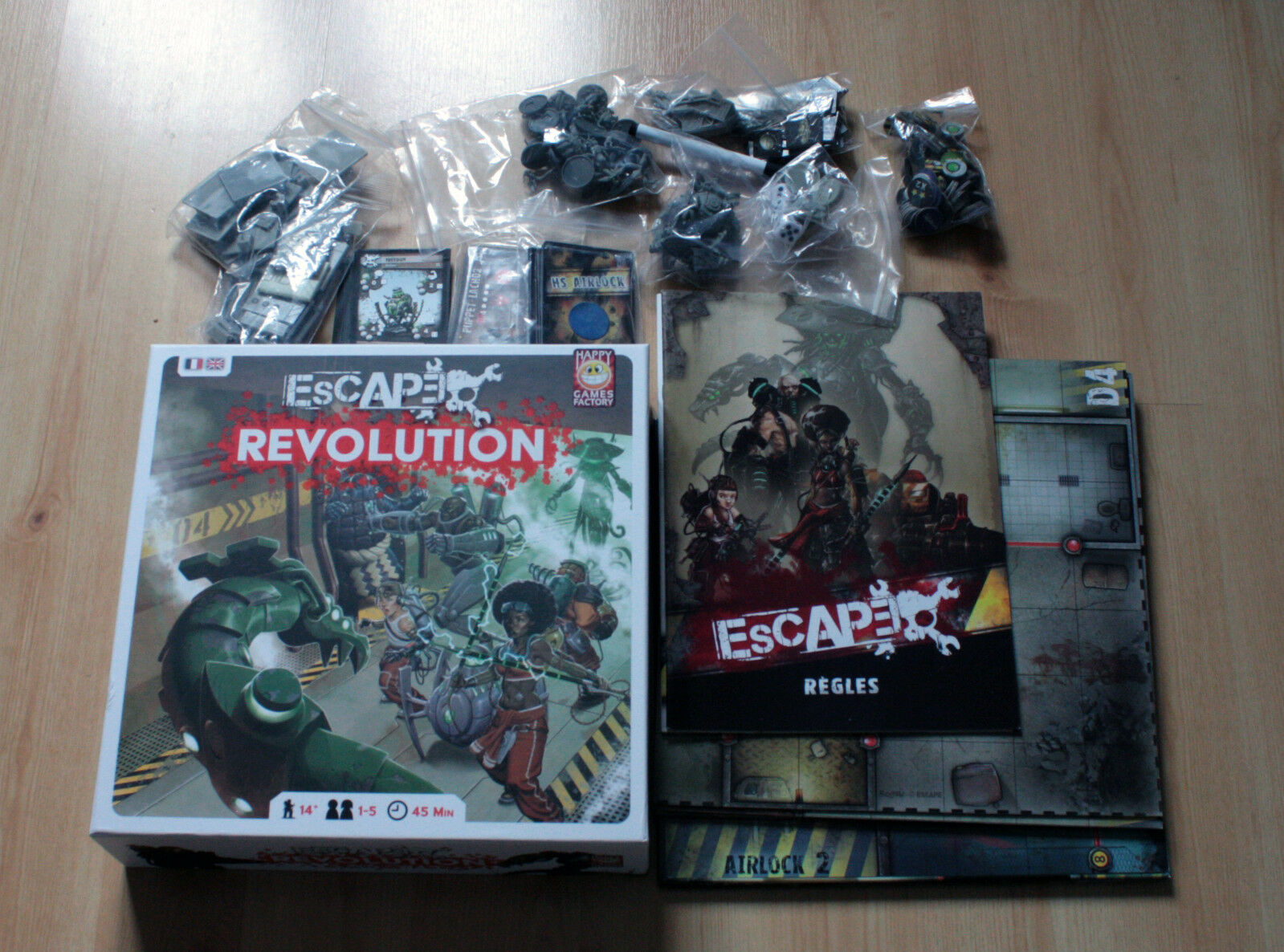 Happy Game Factory Escape V1 and Upgrade with painted miniatures