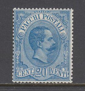 Italy Sc Q2 MLH. 1884 20c blue King Humbert I Parcel Post  issue, fresh, bright