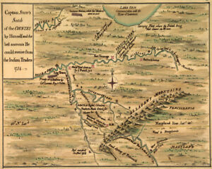 1754 Western Pennsylvania Ohio French Indian War Map Ebay