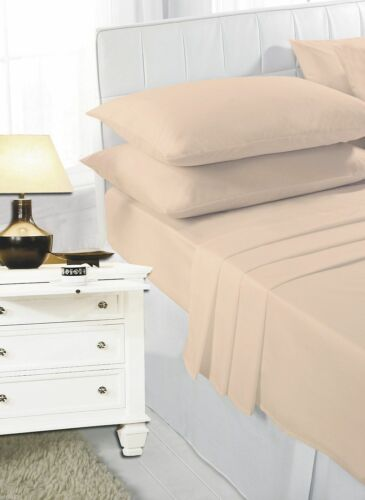 Flat Sheets or Pillow Cases All Sizes Polycotton Soft /& Comfy Non Iron Fitted