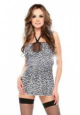 Fantasy Lingerie Vixen Clubwear Dancer Stretch Leopard Dress, One Size