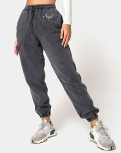 MOTEL-ROCKS-Basta-Jogger-in-Acid-Washed-Black-with-034-Angel-034-Embro-Small-S-MR40