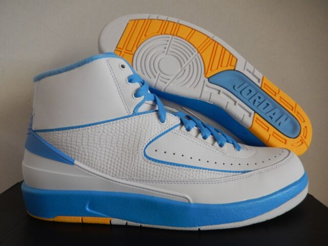 f3abfc1fdab4 Nike Air Jordan Retro II 2 Melo 2018 White University Blue Size 10.5 385475- 122