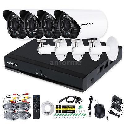 4CH DVR H.264 960H D1+ Caméra CCTV Imperméable Extérieur 700TVL +18M Câble 25DU
