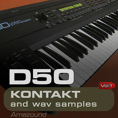 D50 SAMPLES for KONTAKT 128 NKI PATCHES 1024 WAV 24bit MAC PC MPC FL STUDIO VOL1