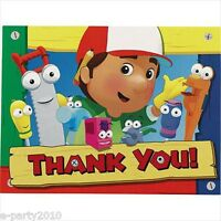 (8) Handy Manny Thank You Notes Birthday Party Supplies Stationery Thanks Card