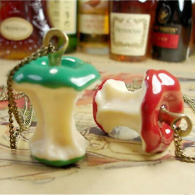 Sweet Stylish fairy tale Jewelry Retro Vintage Apple Core Pendant Chain Necklace