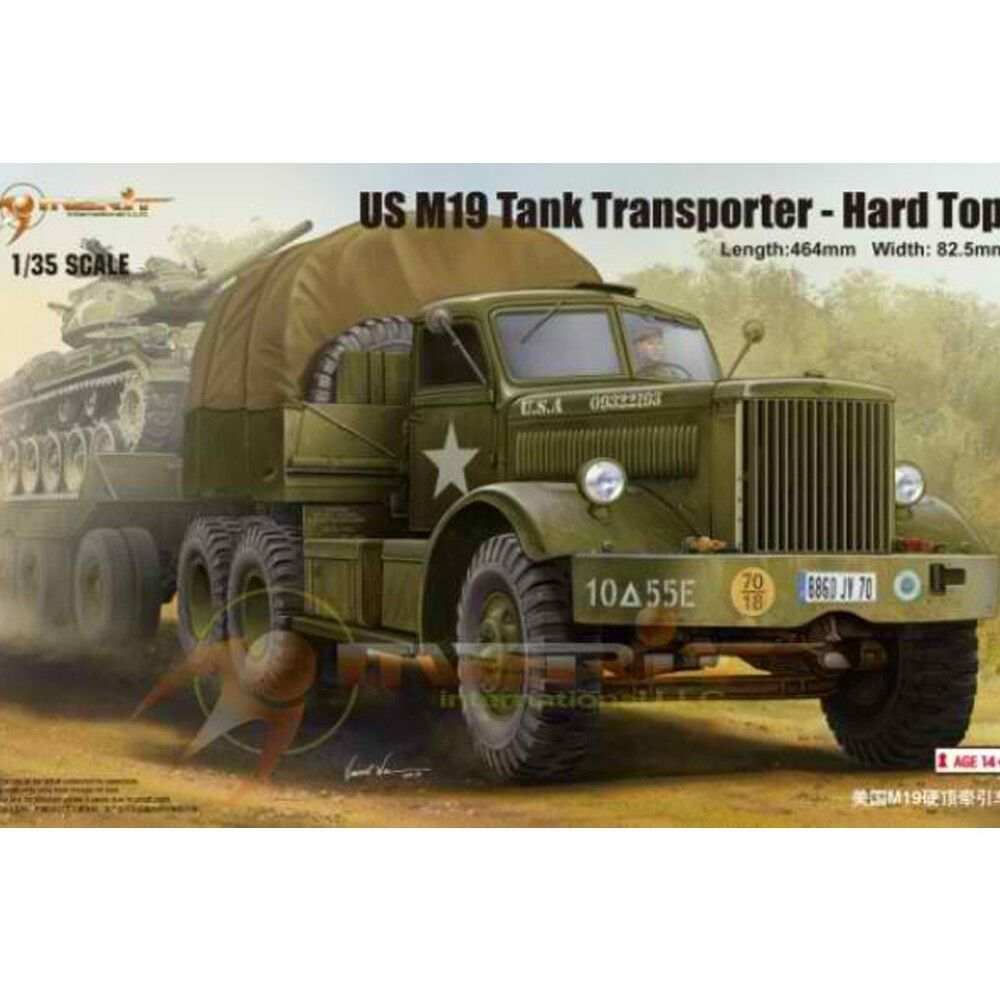Trumpeter 63501  Plastic  American M19 Hardtop Tractor Car Model Tank 1 35 Car