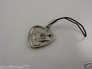 Guitar-pick-pic-silvertone-cell-phone-charm-or-purse-charms