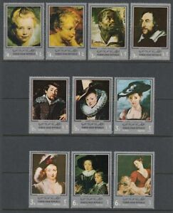 Bien éDuqué 1968 Yémen A.r. */mlh Mi.670/79 Tableaux Paintings Peter Paul Rubens [st4407]