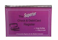 The Superior Check And Debit Card Register W I D E Edition - Pu... Free Shipping