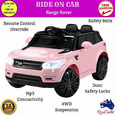 Kids Girls Toy Ride On Electric Car With Remote Control 12v Range Rover Pink New 9350062126530 Ebay