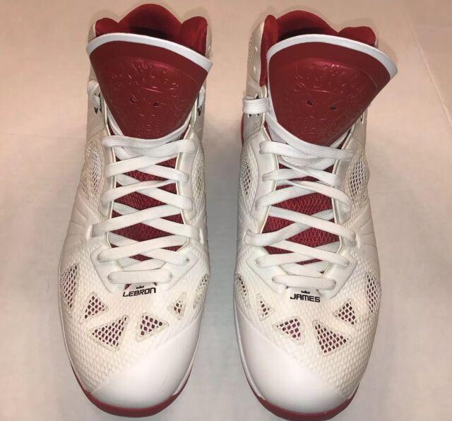 fbb25bec89d6e Nike Lebron James 8 VIII PS, White/Black/Red, Home Miami Heat, 441946-100,  Sz 14