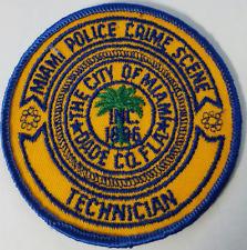Miami Police Crime Scene Technician Dade County Florida Cloth Patch