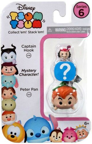 Tsum Tsum Series 6 Captain Hook /& Peter Pan 1-Inch Minifigure 3-Pack #416 /& 415