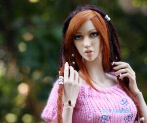 1/3 Bjd Doll Beautiful Woman (65cm) Maquillage de visage et yeux Pieds talon supplémentaire