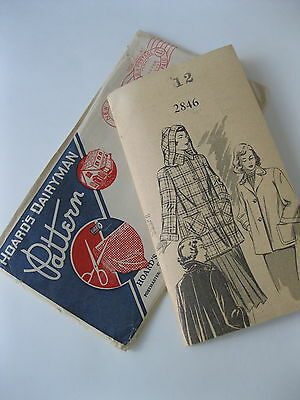 Vintage 1940s Mail Order Pattern Womens Coat  -Size 12/Bust 30  Factory Folded