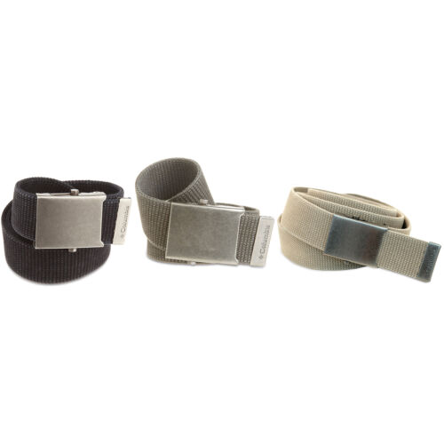 "40/""100/% CottonBlack Olive Beige with Metal Buckle Belt by Columbia L 39/"""