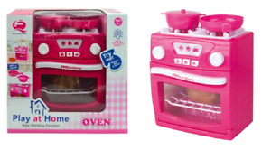 Girls Play At Home Electronic Oven Kitchen Play Set Light & Sound Toy Xmas Gift