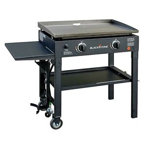 Blackstone Flat Top Grill 28 in 2-Burner Hibachi-Style Griddle Cooking Station