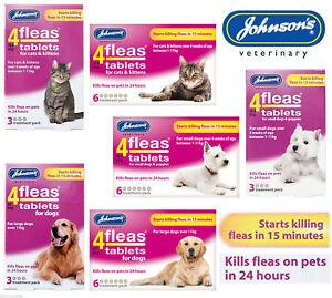 Johnsons-4Fleas-Tablets-Cat-Dog-6-or-3-Treatment-Fleacomb-Fogger-Household-Spray