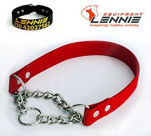BioThane-Halsband-mit-Durchzugskette-25-mm-beit-Hundehalsband-Halsung-mit-Kette