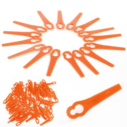 50//100X Ersatz Plastik Messer Schneidplättchen für Akku Rasentrimmer Kunststoff